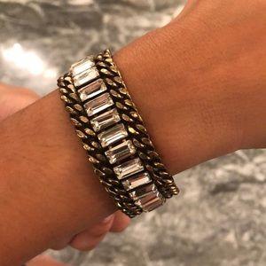 Faux baguette bracelet